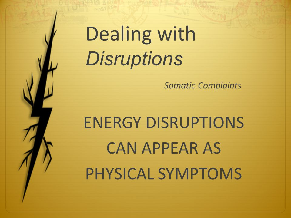 Dealing with Disruptions
