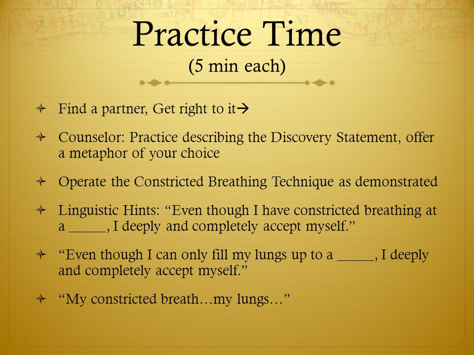 Practice Time (5 min each)