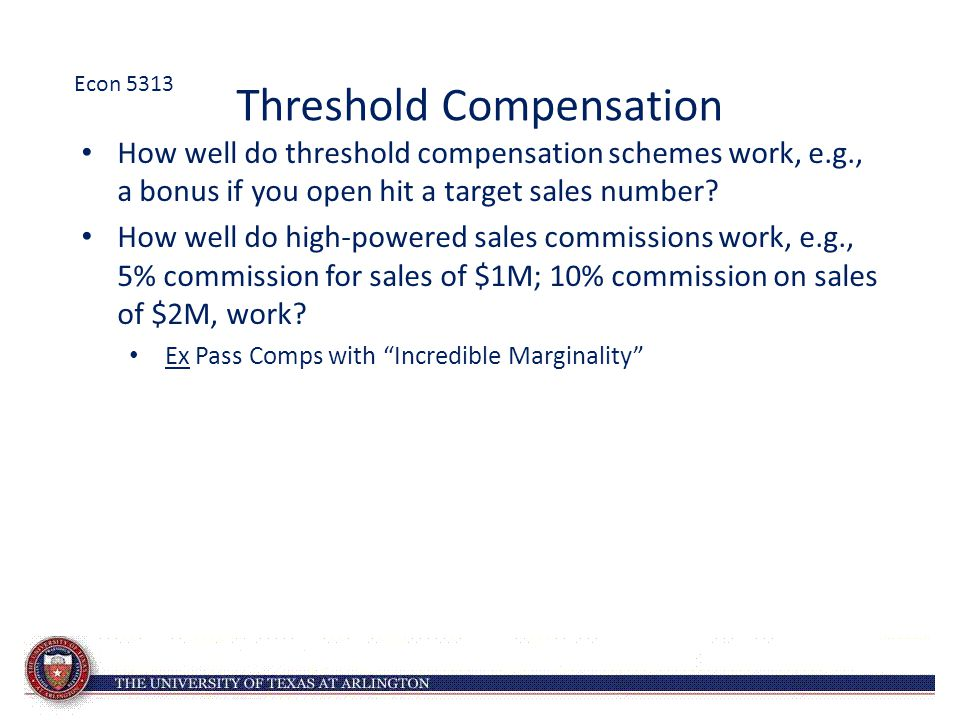 Threshold Compensation