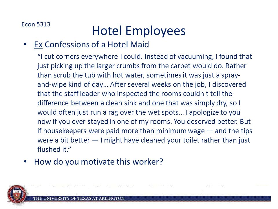Hotel Employees Ex Confessions of a Hotel Maid