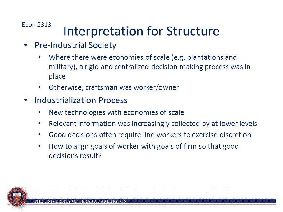 Interpretation for Structure