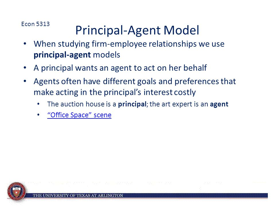 Principal-Agent Model