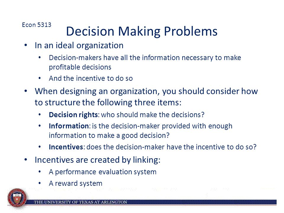 Decision Making Problems