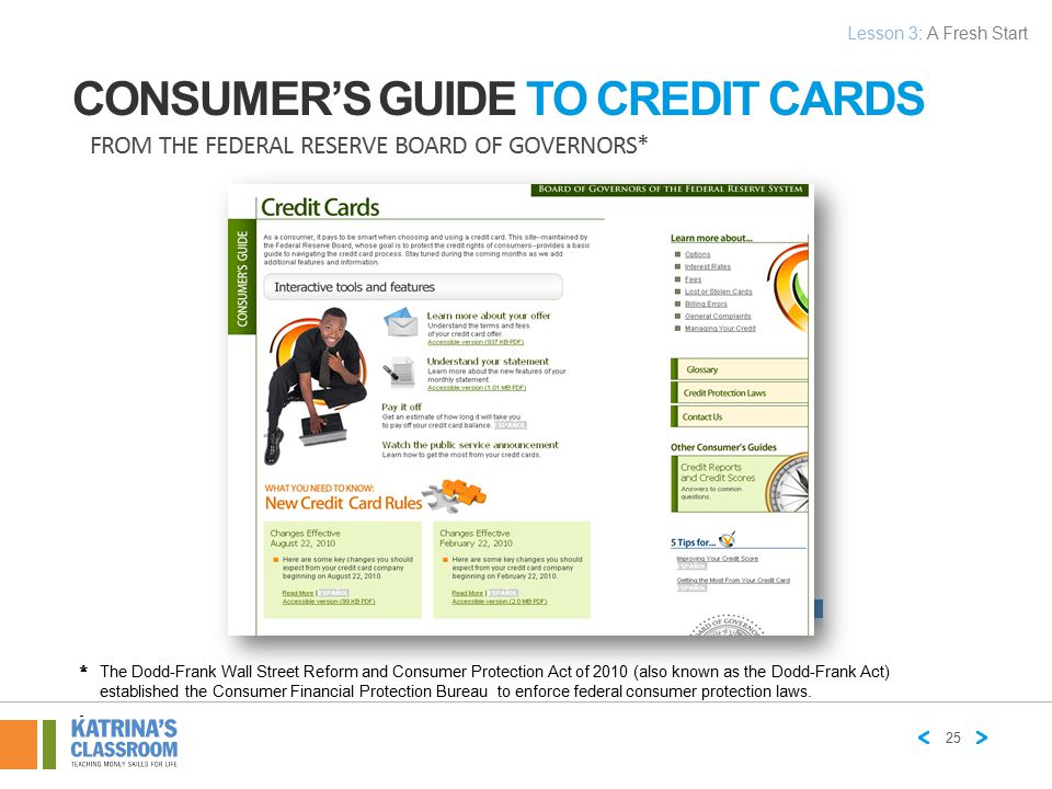 Consumer's Guide to Credit Cards