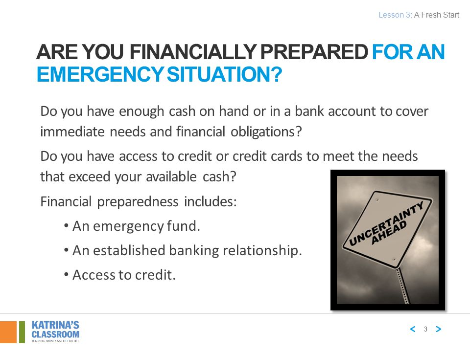 Are You Financially Prepared for an Emergency Situation