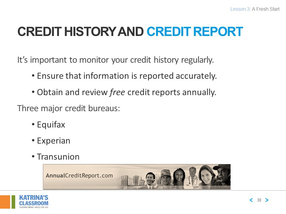 Credit History and Credit Report