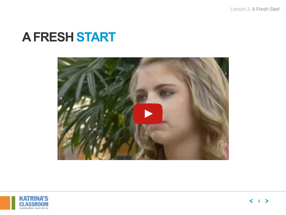 Lesson 3: A Fresh Start A Fresh START 4