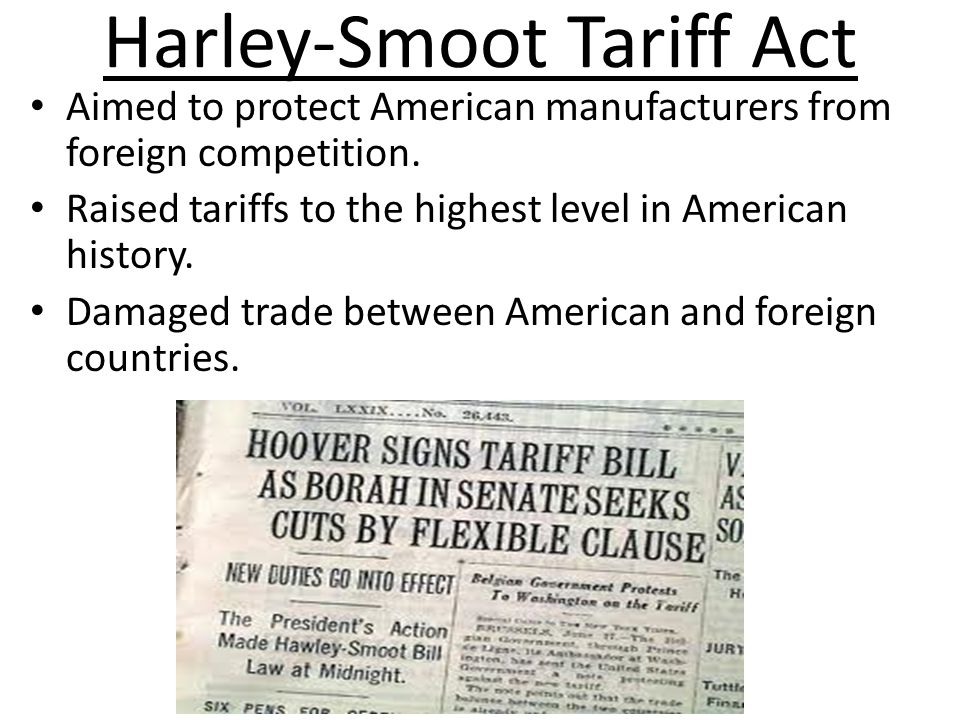Harley-Smoot Tariff Act