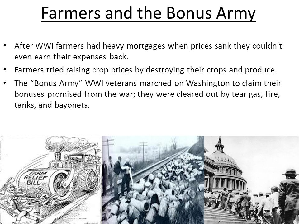 Farmers and the Bonus Army