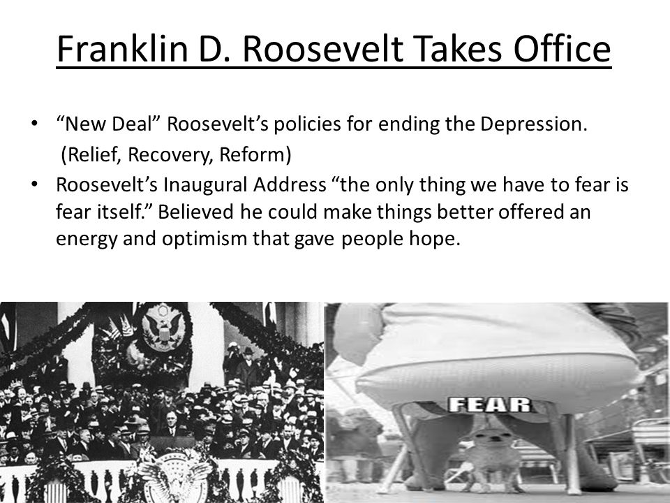 Franklin D. Roosevelt Takes Office