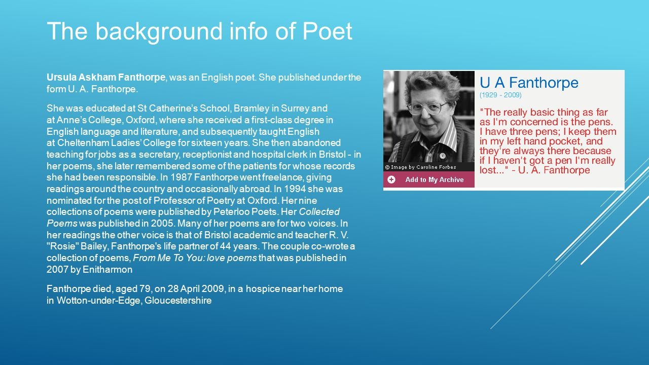 The background info of Poet