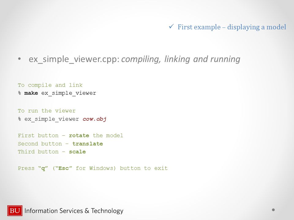 ex_simple_viewer.cpp: compiling, linking and running