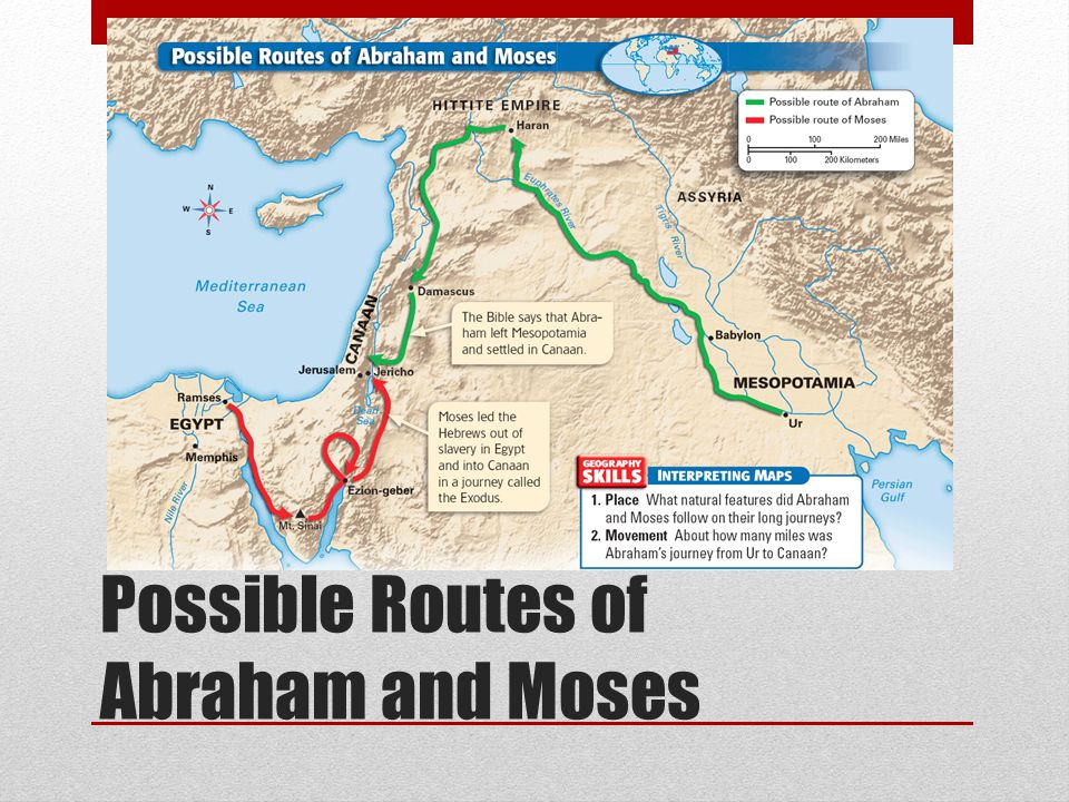 Possible Routes of Abraham and Moses