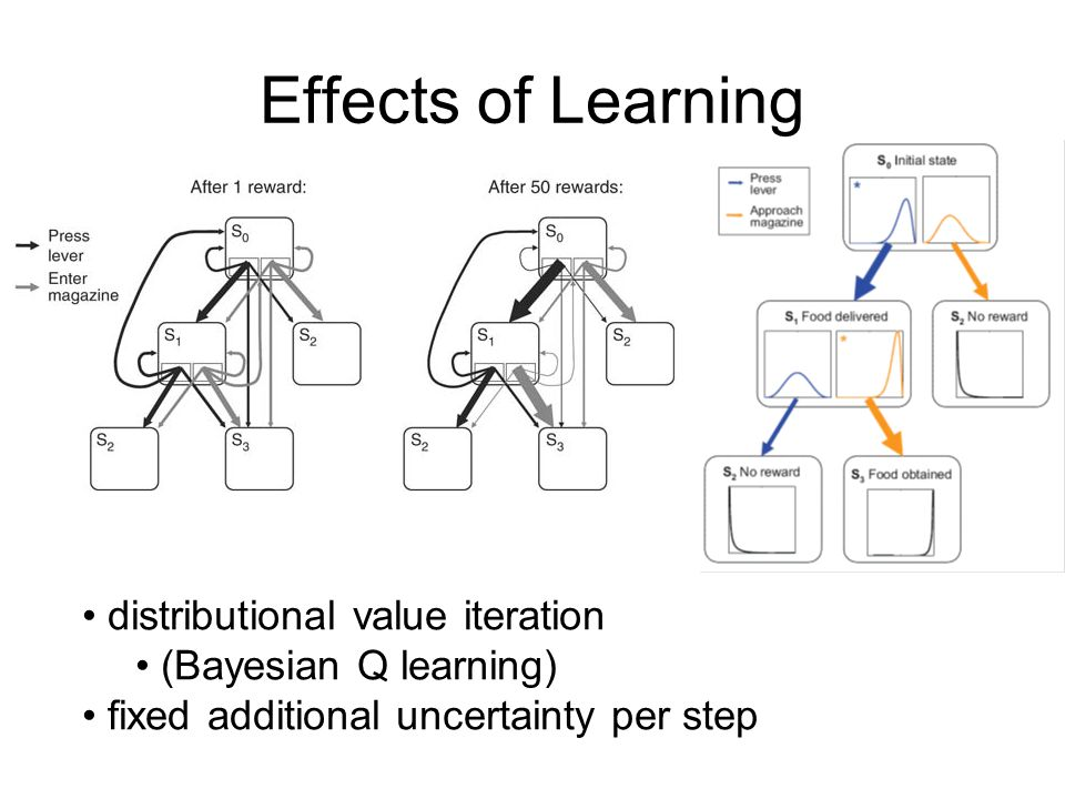 Effects of Learning distributional value iteration