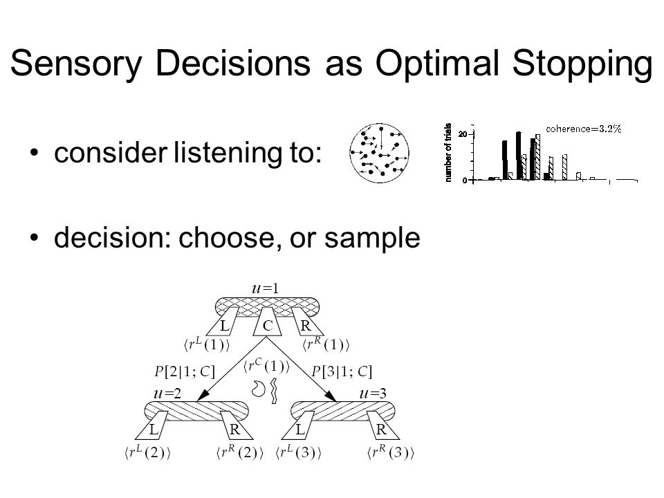 Sensory Decisions as Optimal Stopping