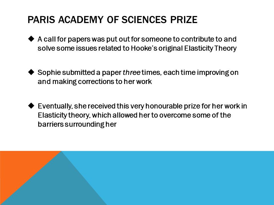 Paris Academy of Sciences prize