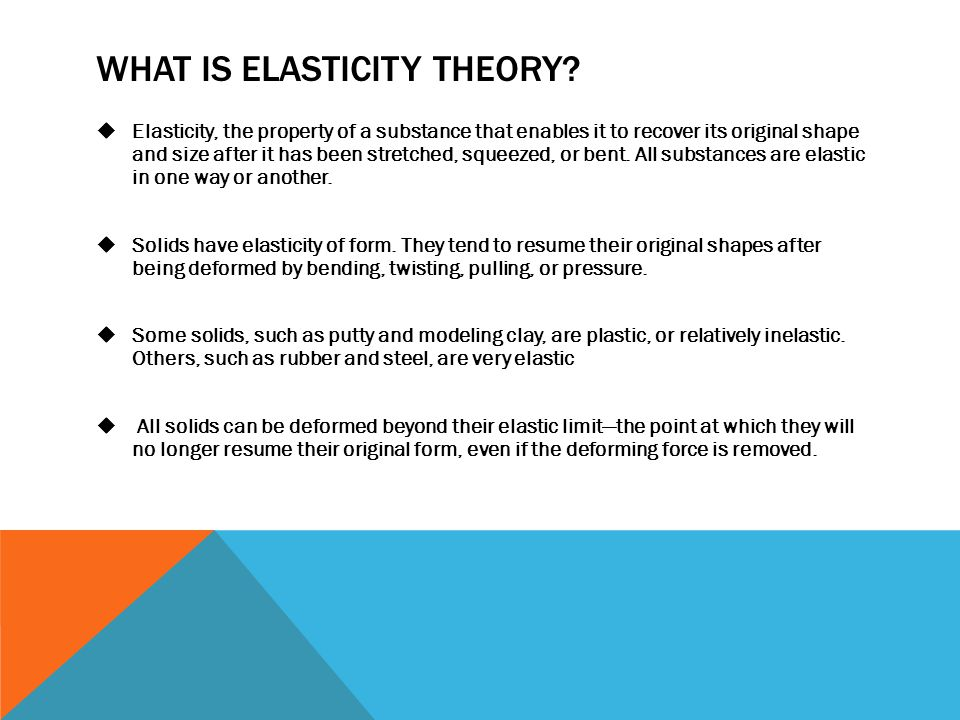What is Elasticity theory