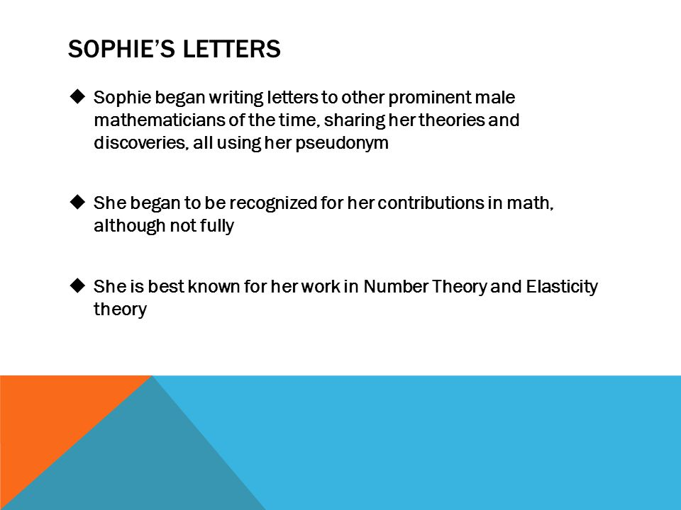Sophie's Letters