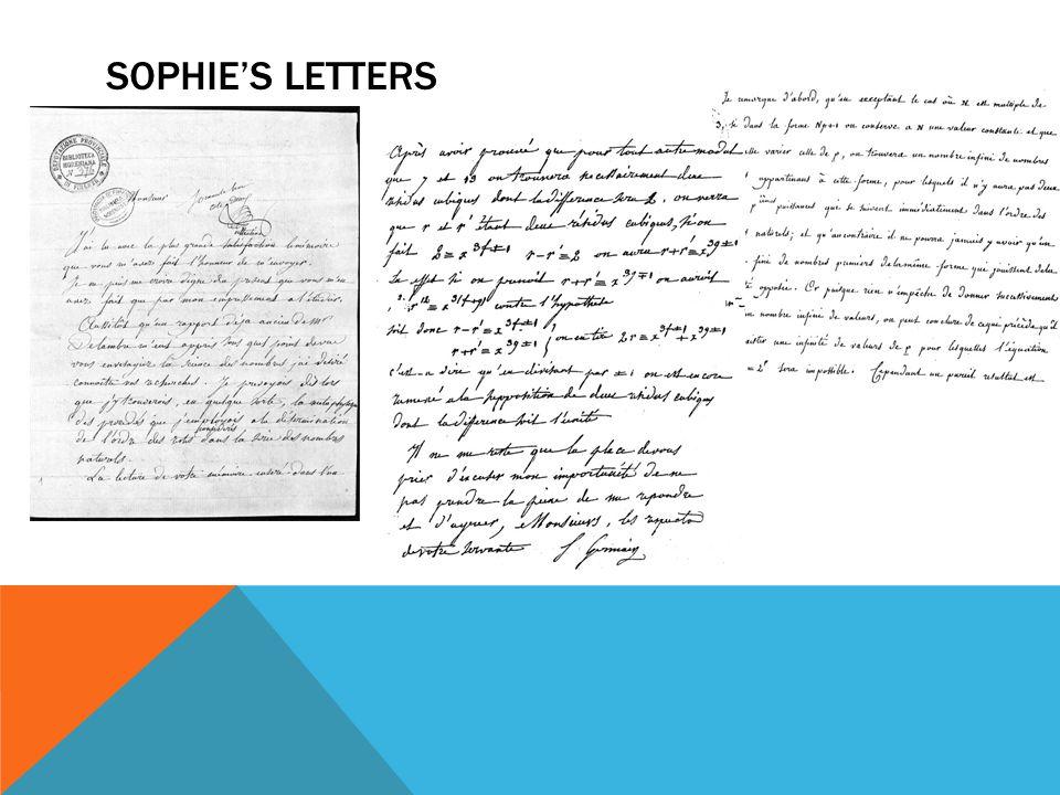 Sophie's letters