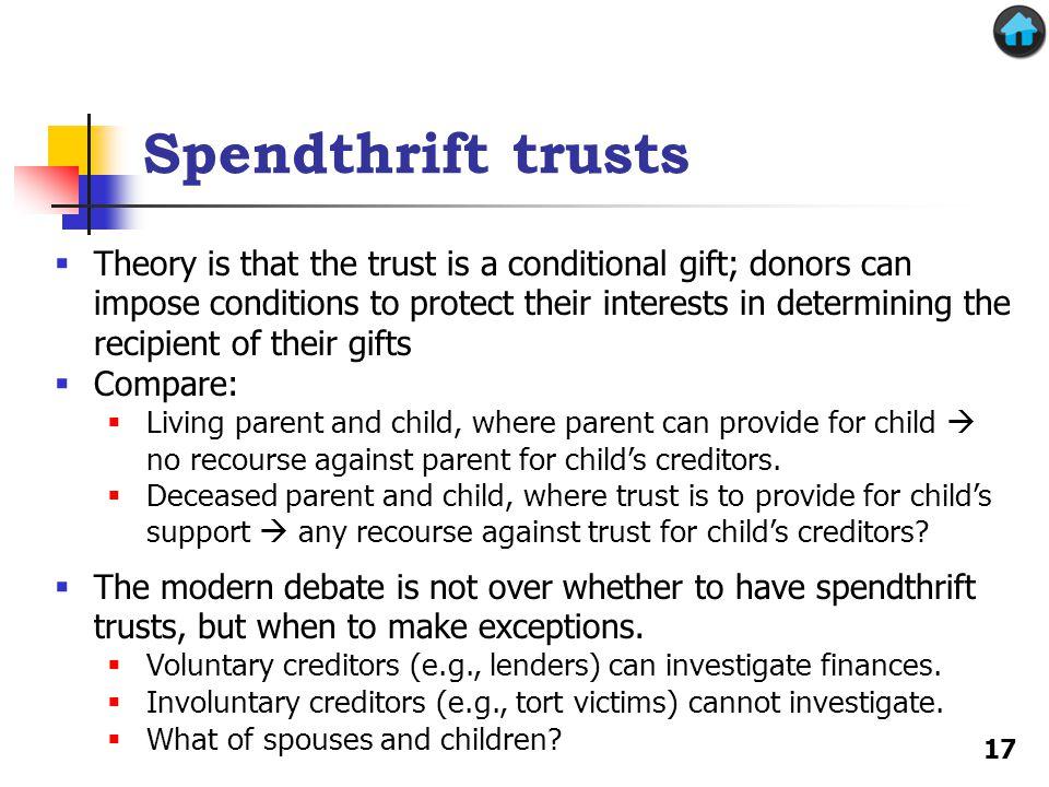 Spendthrift trusts