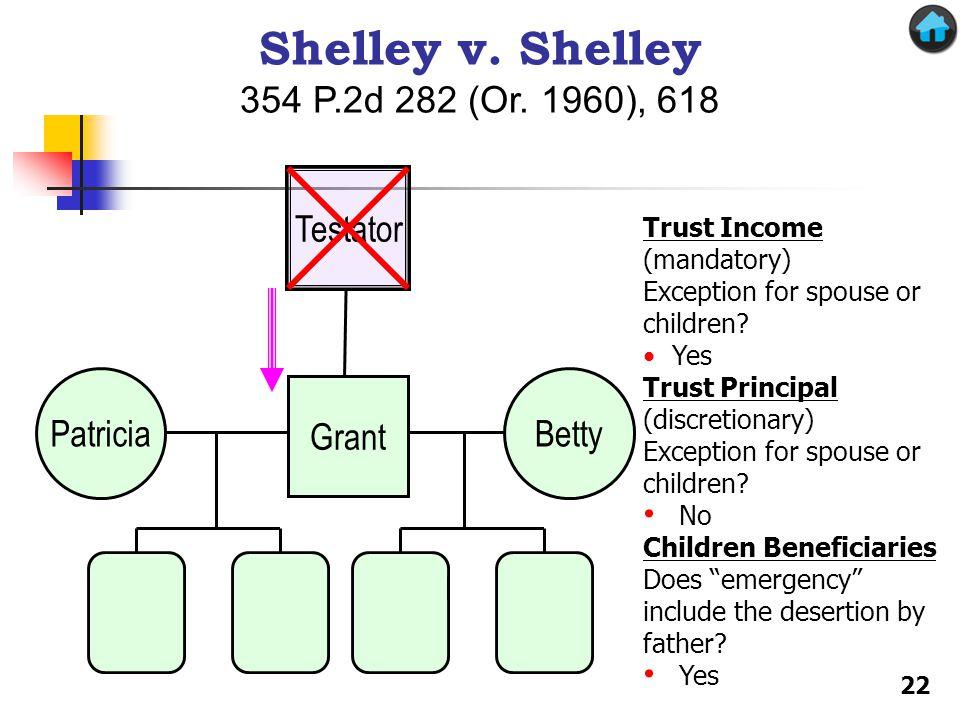 Shelley v. Shelley 354 P.2d 282 (Or. 1960), 618