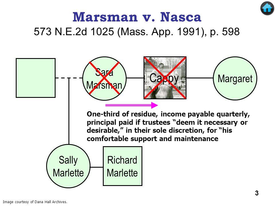 Marsman v. Nasca Cappy 573 N.E.2d 1025 (Mass. App. 1991), p. 598 Sara