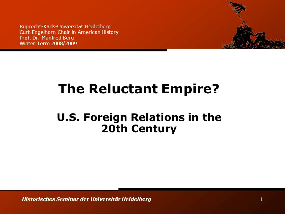 The Reluctant Empire U.S. Foreign Relations in the 20th Century