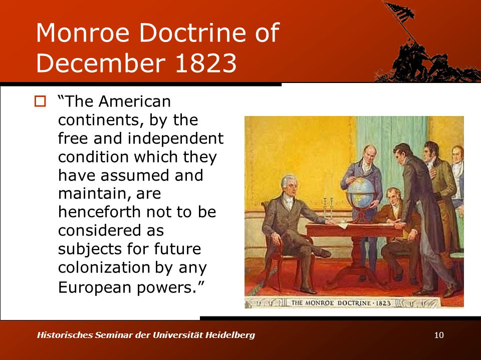 Monroe Doctrine of December 1823