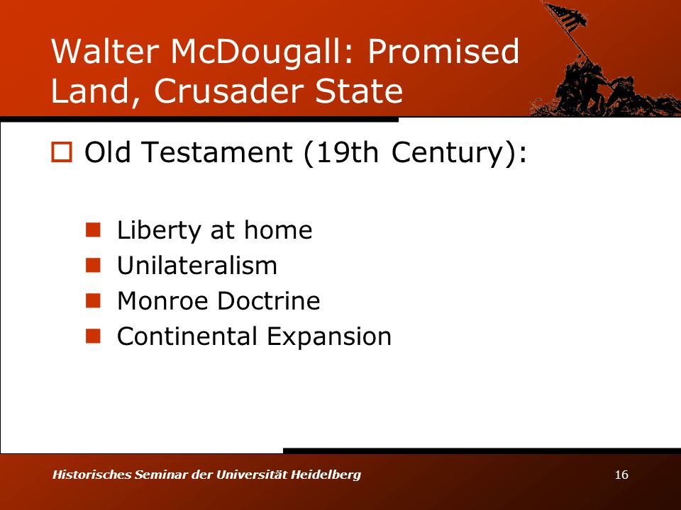 Walter McDougall: Promised Land, Crusader State