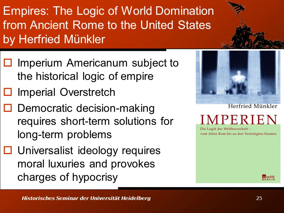 Empires: The Logic of World Domination from Ancient Rome to the United States by Herfried Münkler