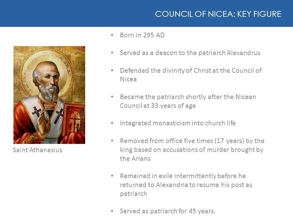 COUNCIL OF NICEA: KEY FIGURE