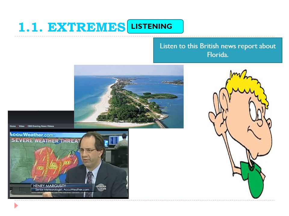 Listen to this British news report about Florida.