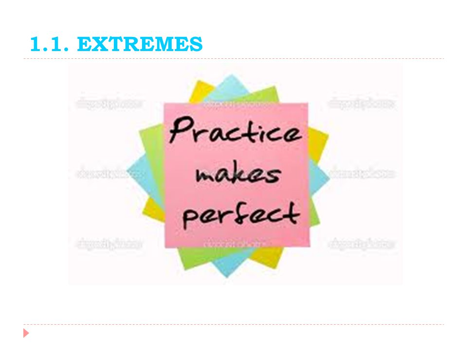 1.1. EXTREMES