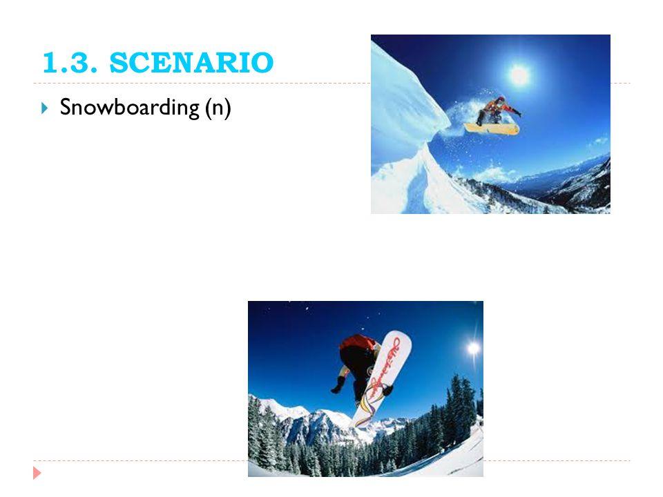 1.3. SCENARIO Snowboarding (n)