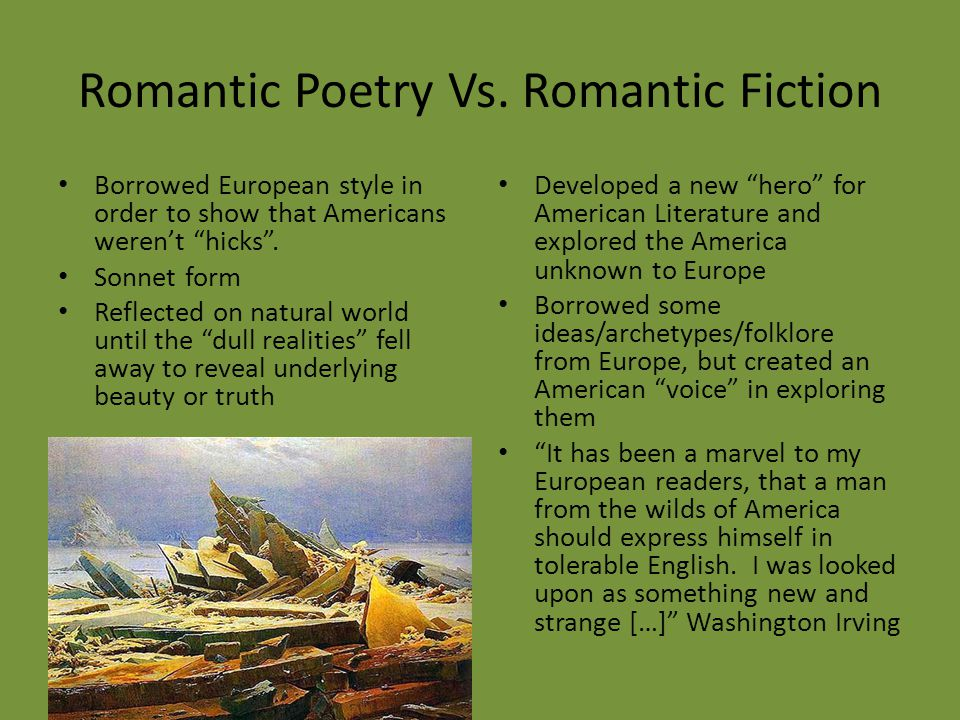 Romantic Poetry Vs. Romantic Fiction