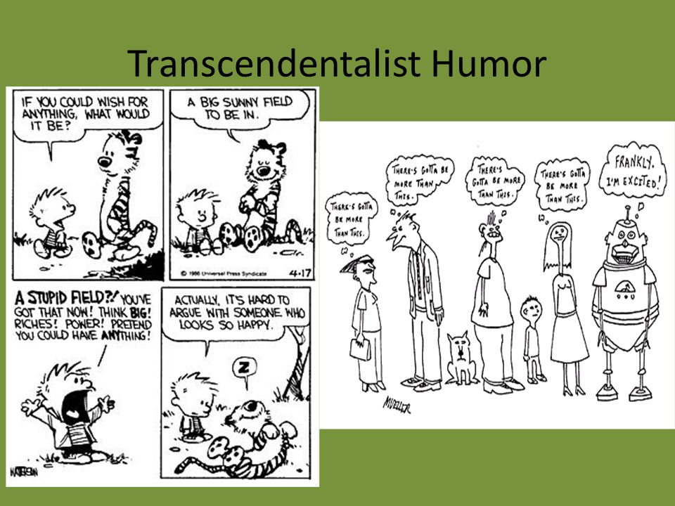 Transcendentalist Humor