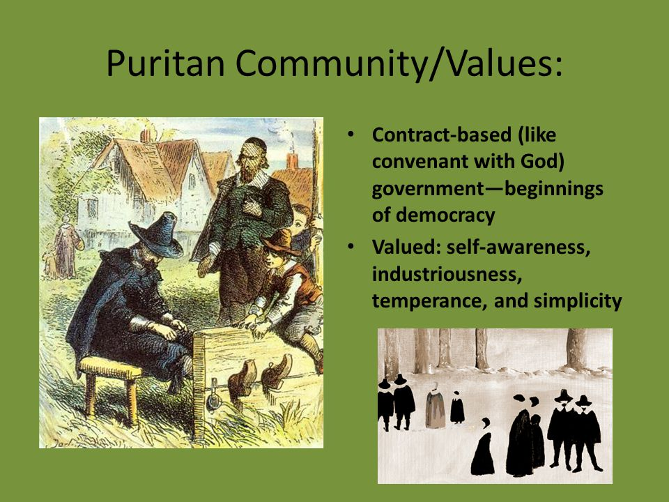 Puritan Community/Values: