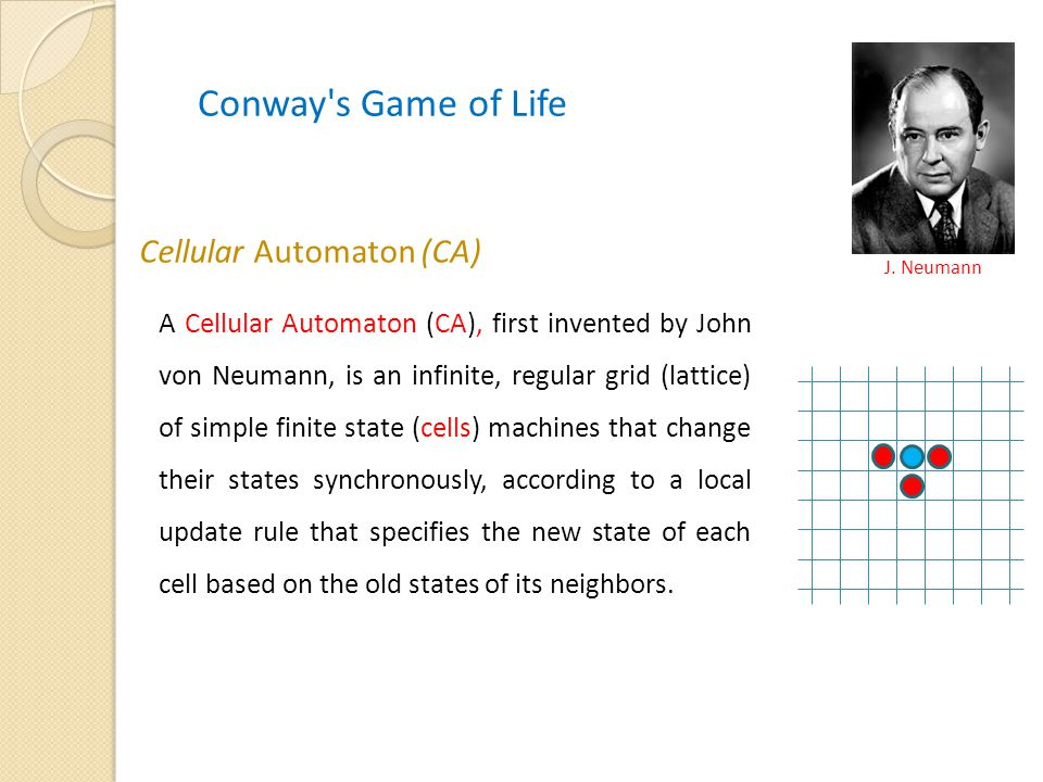 Conway s Game of Life Cellular Automaton (CA)