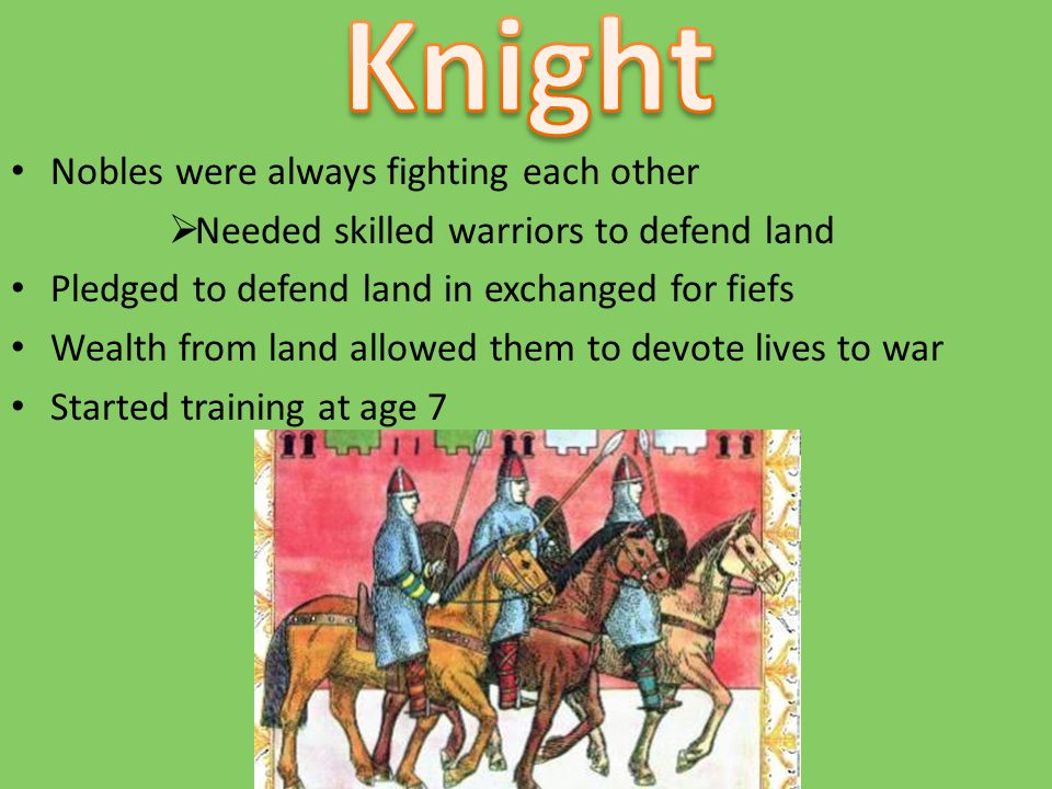Knight Nobles were always fighting each other