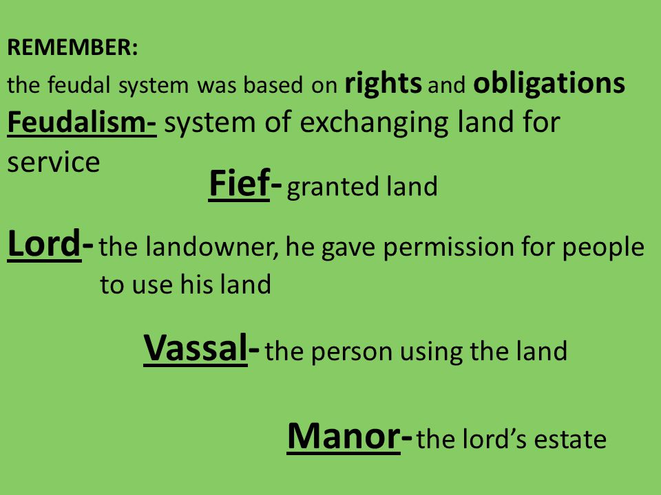 Lord- the landowner, he gave permission for people to use his land