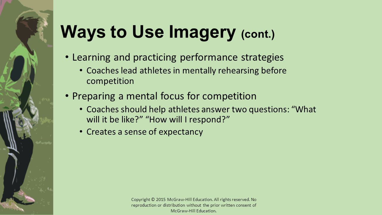 Ways to Use Imagery (cont.)