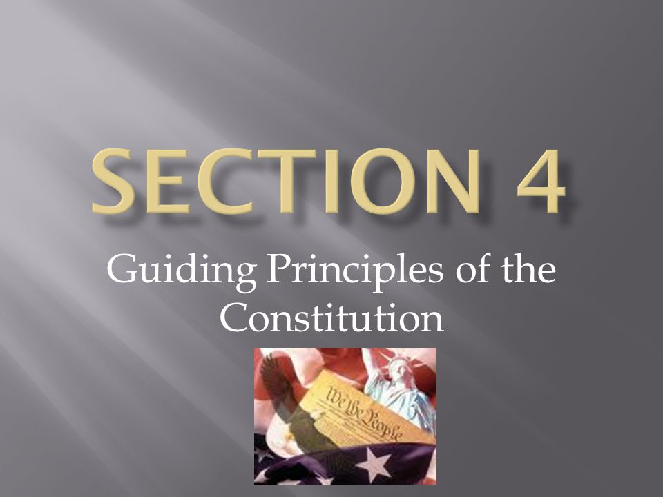 Guiding Principles of the Constitution