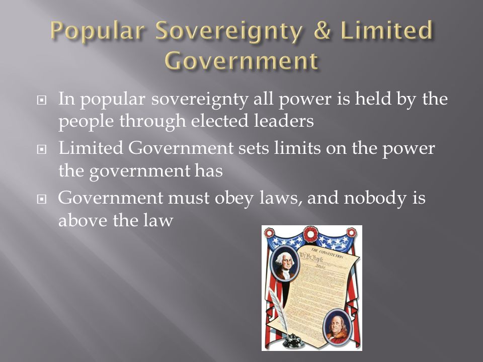 Popular Sovereignty & Limited Government