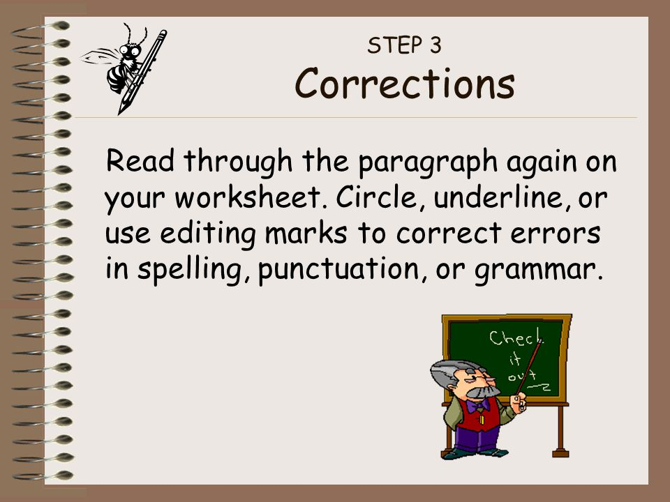 STEP 3 Corrections