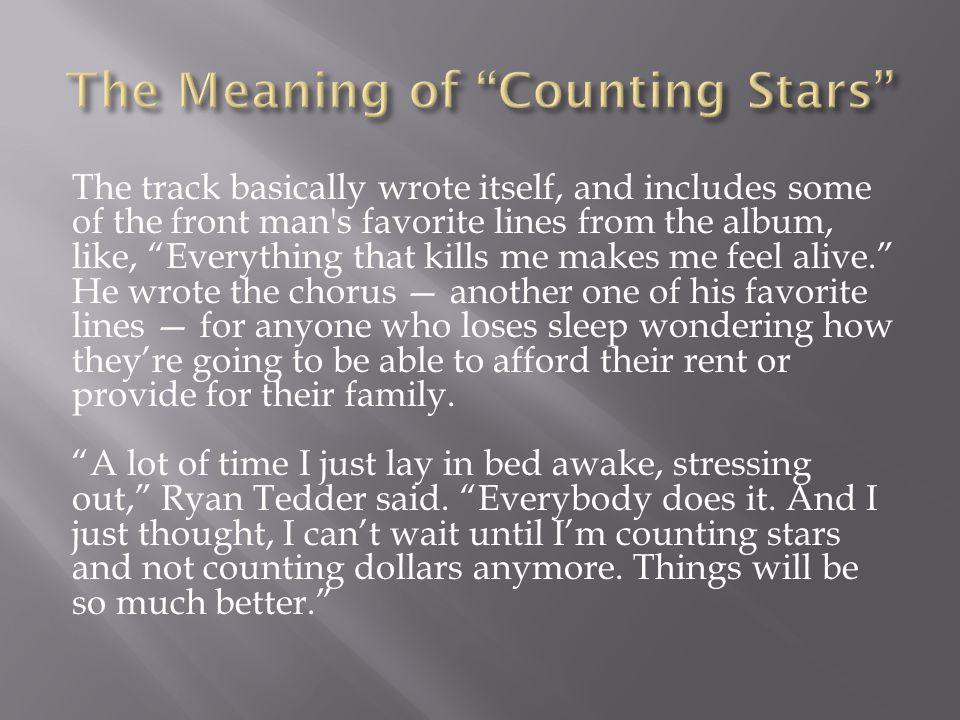 The Meaning of Counting Stars