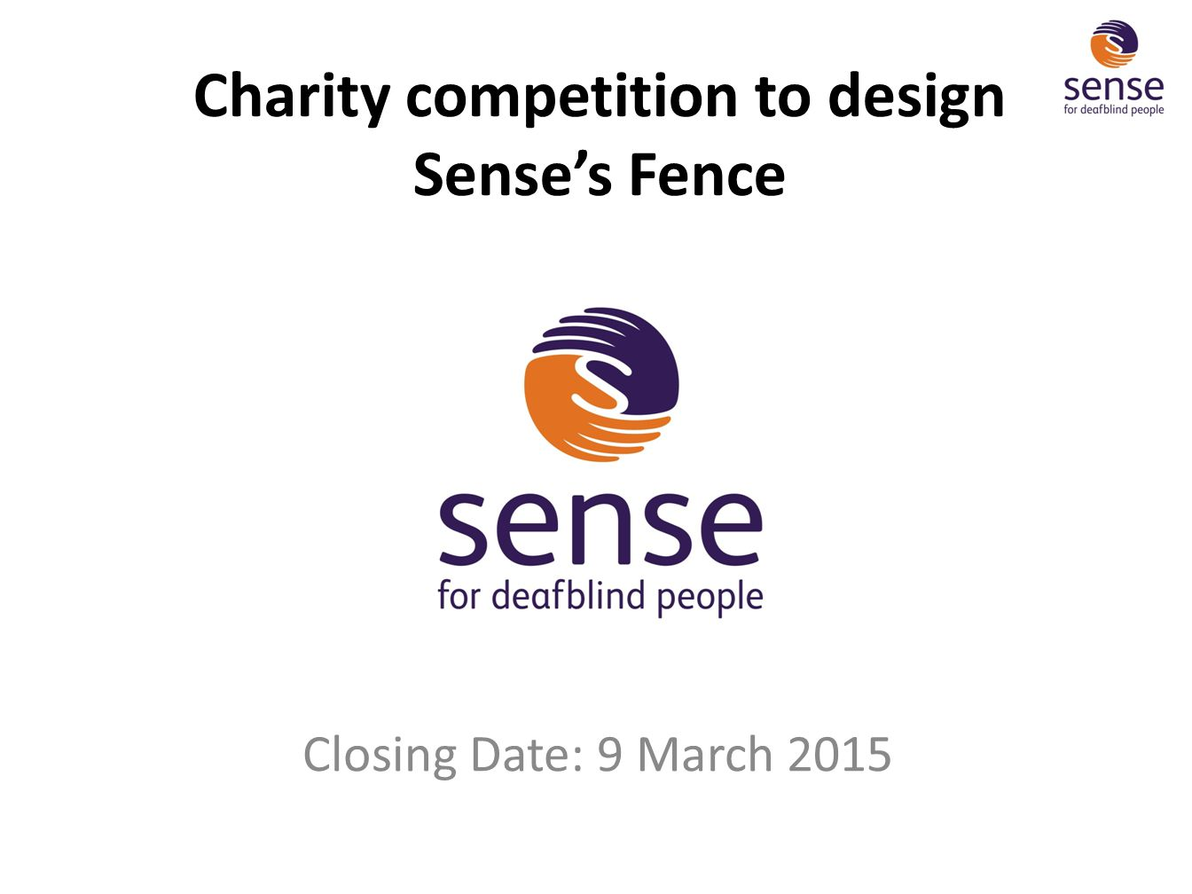 Charity competition to design Sense's Fence