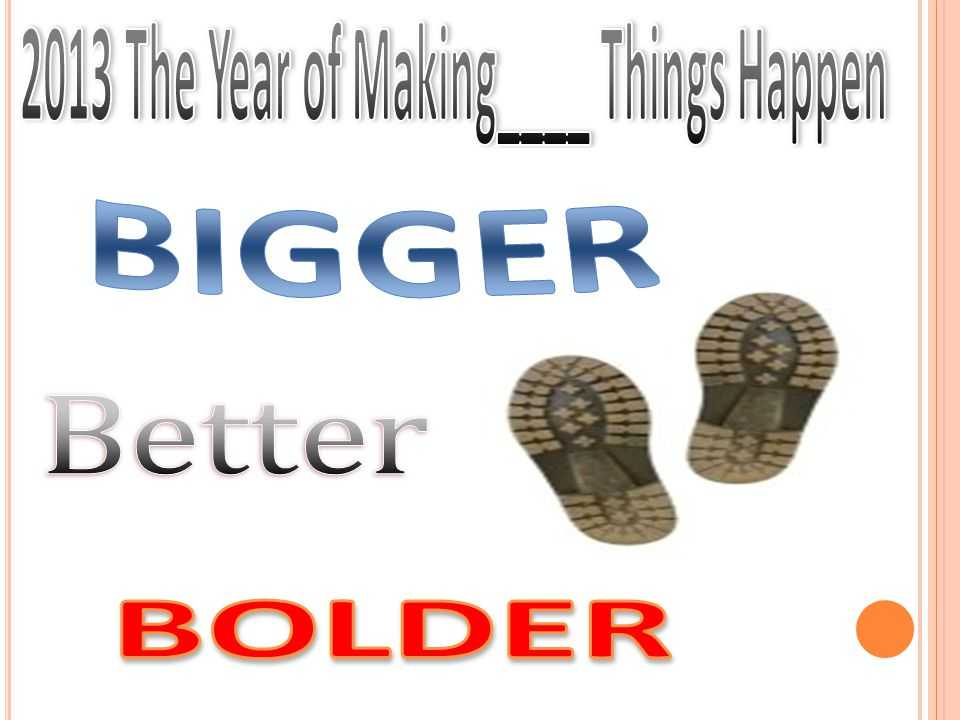 2013 The Year of Making____ Things Happen