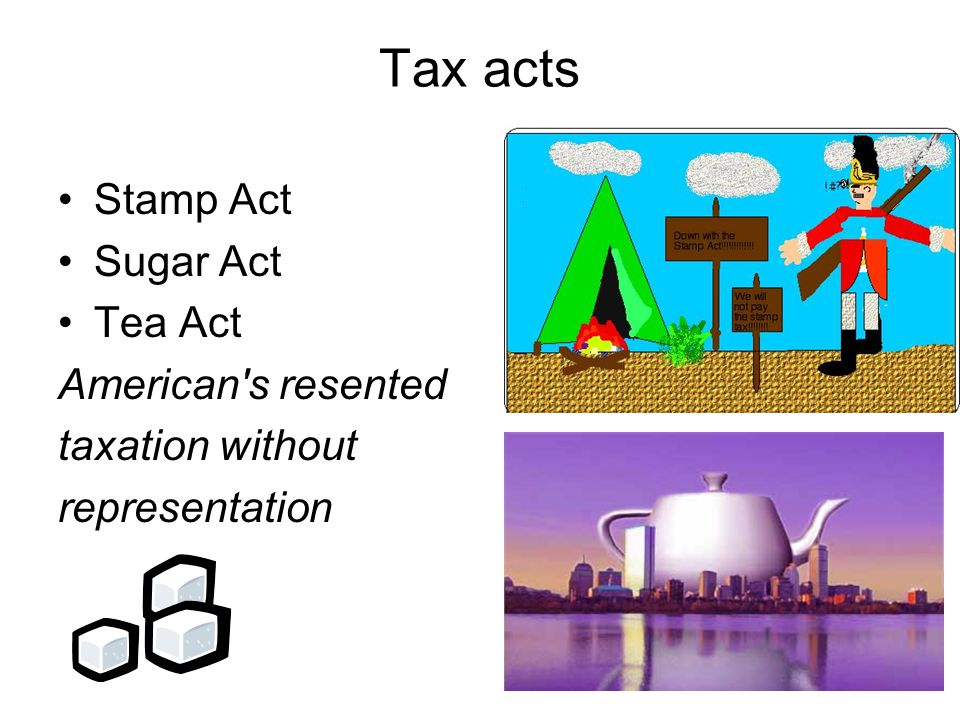 Tax acts Stamp Act Sugar Act Tea Act American s resented