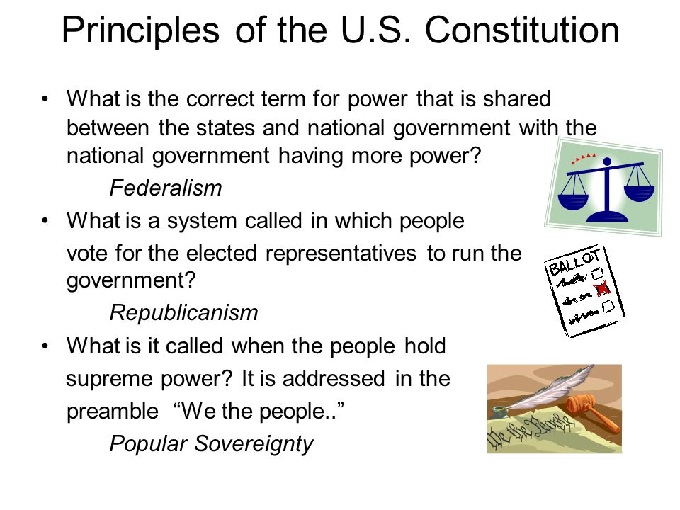 Principles of the U.S. Constitution