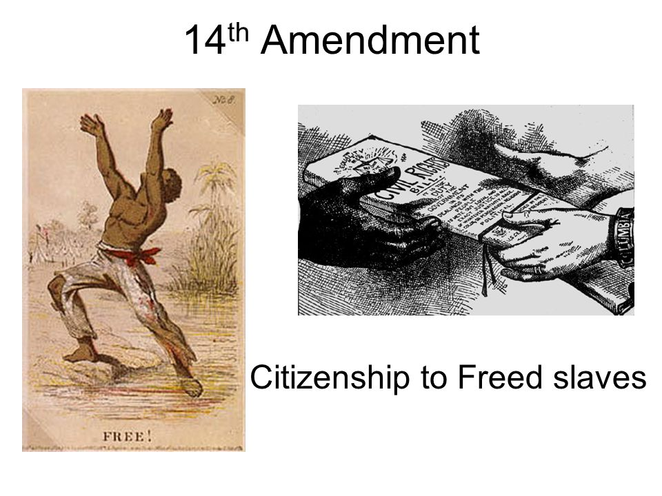 14th Amendment Citizenship to Freed slaves